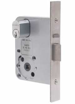 Mortice locks installed and opened no matter how high the cylinder security