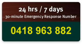 24 hrs / 7 days 30-minute Emergency Response Numbers